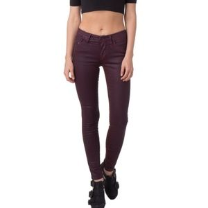 DIESEL Skinny Punk Jeans Coated Worn Out